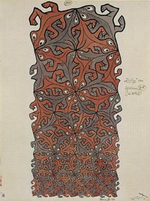 Maurits Cornelis Escher. Lizards (№ 101)