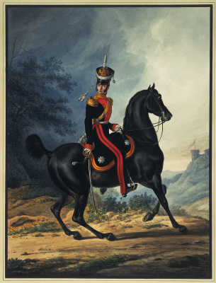 Alexander Ivanovich Sauerweid. Staff officer life guard Dragoon regiment