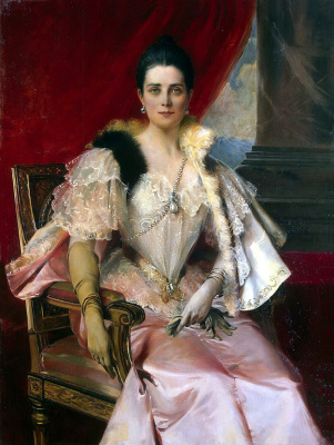 Франсуа Фламенг. Портрет княгини Юсуповой
