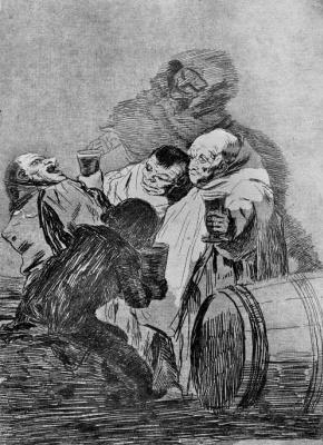 "Francisco Goya. Series ""Caprichos,"" sheet 79: no one saw Us"