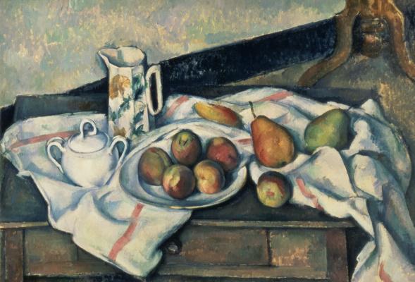 Paul Cezanne. Peaches and pears