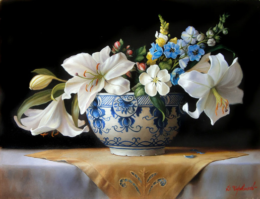 Владимир Абат-Черкасов. Flowers in a vase