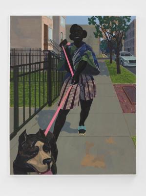 Керри Джеймс Маршалл. Untitled (Dog Walker)