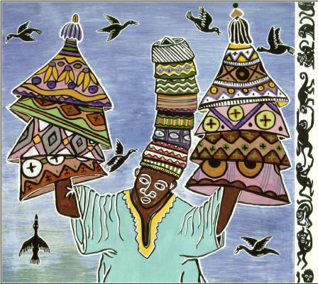 Ладжи Диаките. Продавец шляп и обезьяны