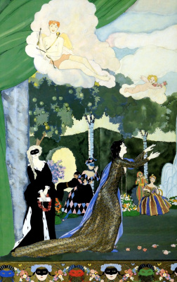 Constantin Somov. Sketch of curtain for the theatre in Moscow. Fragment