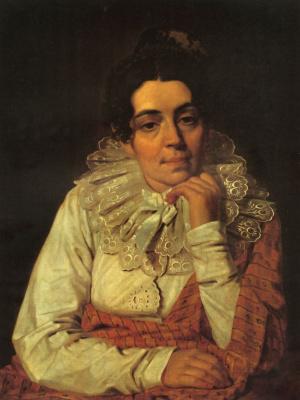 Alexey Gavrilovich Venetsianov. Portrait of M. A. Venetsianova, wife of the artist