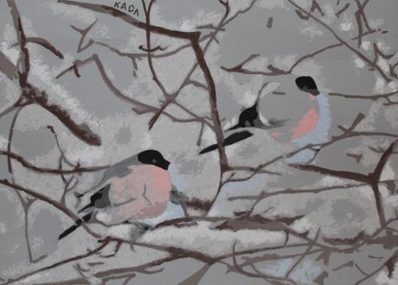 Catherine Slyunin. Bullfinches