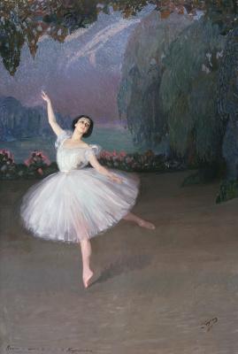 Saveliy Abramovich Sorin. Tamara Karsavina in the sylphs ballet. 1910