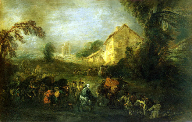 Antoine Watteau. The Hardships Of War