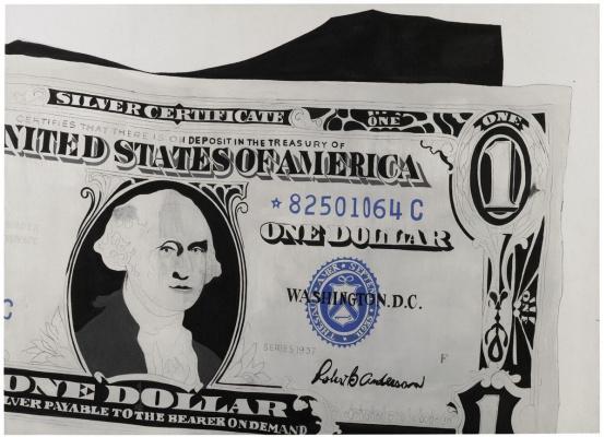 Andy Warhol. One-dollar bill (Silver certificate)