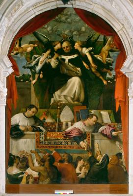 Лоренцо Лотто. Подаяние святого Антония Флорентийского