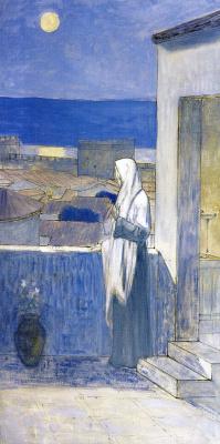 Pierre Cecil Puvi de Chavannes. The woman near the steps