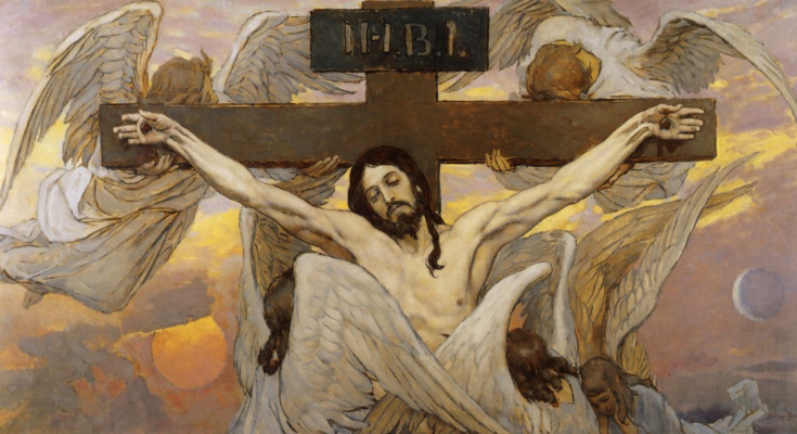 Victor Mikhailovich Vasnetsov. Crucifixion Of Jesus Christ. The sketch for the painting of the Vladimir Cathedral in Kiev
