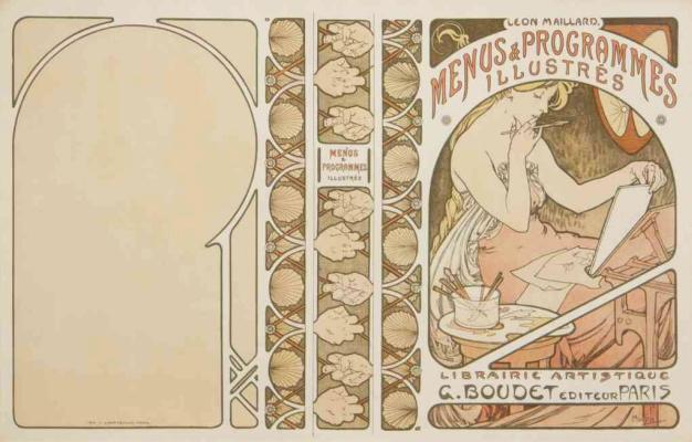 Alphonse Mucha. Menus and Programs