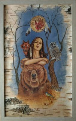 Andrey Vladimirovich Shapkin. Faith Owl. Portrait of daughter