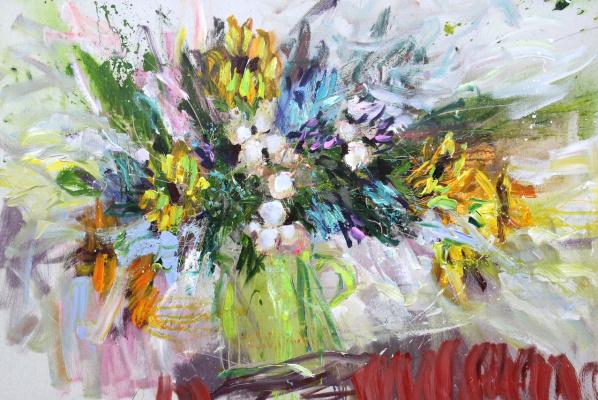Ilya Pavlovich Spichenkov. Sunny bouquet