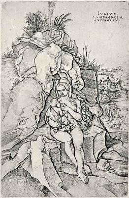Джулио Кампаньола. Покаяние святого Иоанна Златоуста