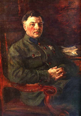 Александр Михайлович Герасимов. Портрет К.Е. Ворошилова