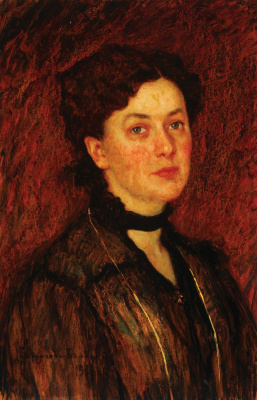 Nikolay Petrovich Bogdanov-Belsky. Female portrait