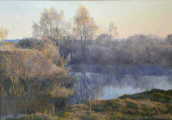 Boris Petrovich Zakharov. Misty morning.