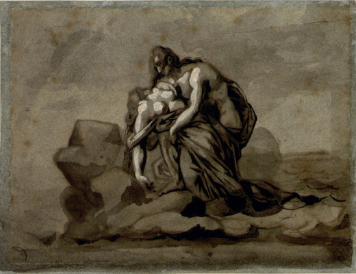 Théodore Géricault. Salvation after a shipwreck (Paul and Virgirni). Sketch