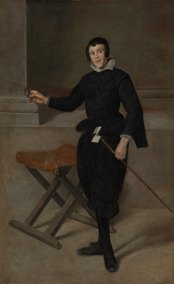 Diego Velazquez. Portrait of the jester Calabazas