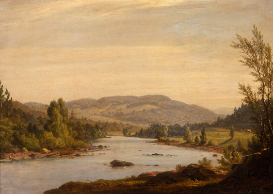 Landscape with a River (Scene in Northern New York)