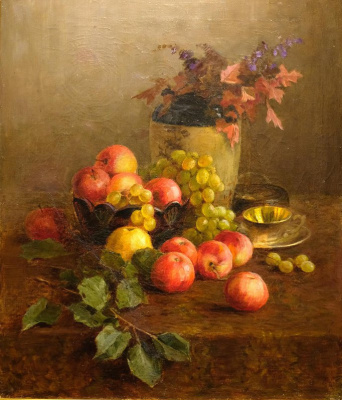 Kondrat Evdokimovich Maksimov. Still life with apples