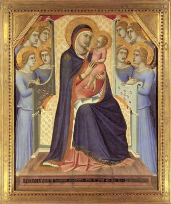 Pietro Lorenzetti. Virgin with the baby