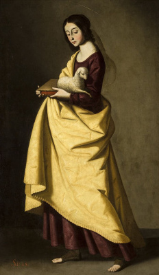 Francisco de Zurbaran. Holy Inessa