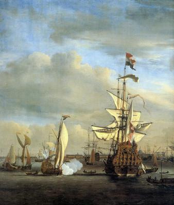 Виллем ван де Вельде Младший. Амстердам