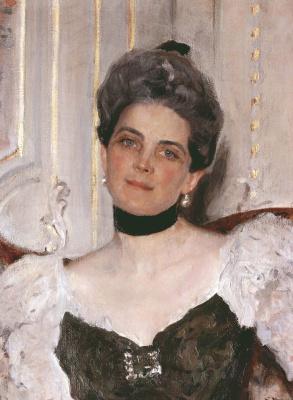 Valentin Aleksandrovich Serov. Portrait of Princess Z. N. Yusupova. Fragment