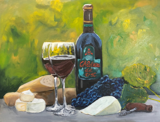 Phaque u parce que. Still Life A-2 (wine)