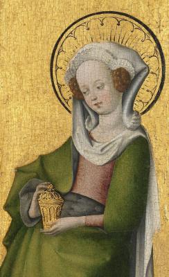 Stefan Lochner. Holy Mary Magdalene. 1445-1450 detail