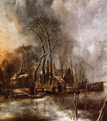 Ван Ян Каппель. Замерзший канал