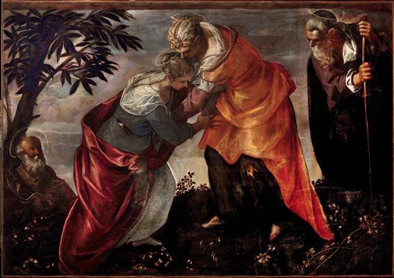 Jacopo (Robusti) Tintoretto. Visit Vision of St. Elizabeth