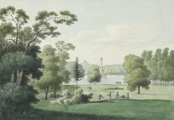 Andrei Efimovich Martynov. View of Tsarskoye Selo Park