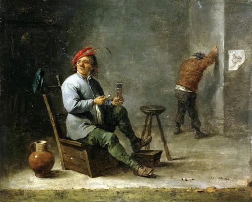 Давид Тенирс Младший. Курильщик