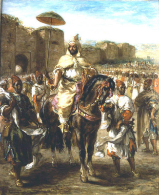 Eugene Delacroix. A portrait of the Sultan of Morocco, Muley Abd-El-Rahman