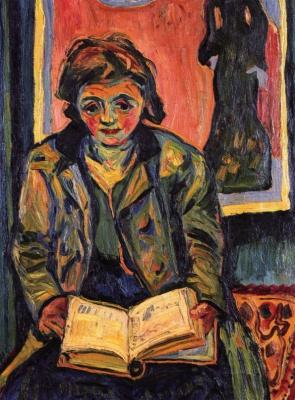 Макс Пехштейн. Девушка с книгой