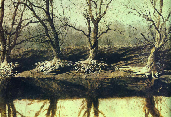 Jamie Wyeth. Spiders on the river brandiwine