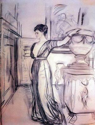 Valentin Aleksandrovich Serov. Portrait Of P. I. Scherbatova