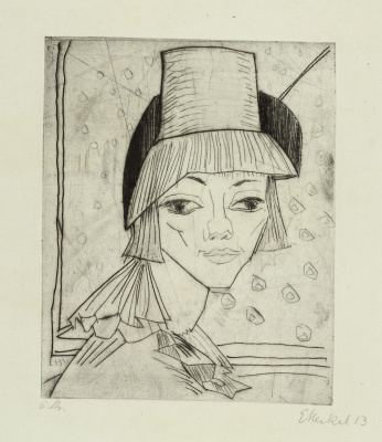 Erich Heckel. The girl in the hat