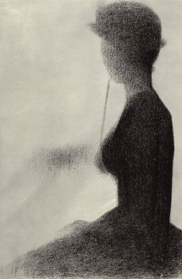 Georges Seurat. Seated woman with a parasol
