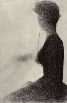 Жорж Сёра. Сидящая женщина с зонтиком