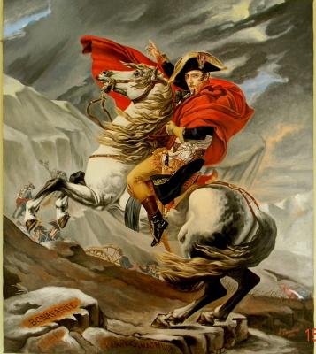 "Копия картины Жака-Луи Давида ""Наполеон на перевале Сен-Бернар"""