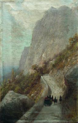 Lev Feliksovich Lagorio. Mountain landscape