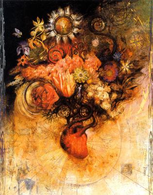 Грег Спаленка. Букет цветов в вазе