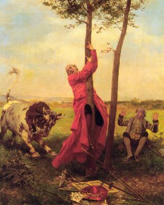 Франсуа Брюнери. На дерево