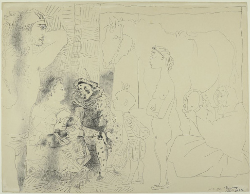 Pablo Picasso. The family of a comedian